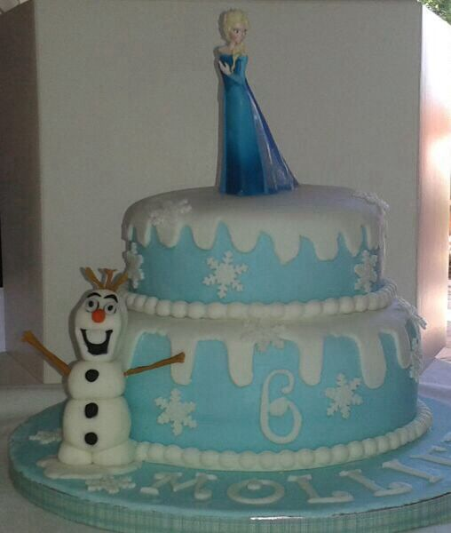 Frozwn themed birthday cake