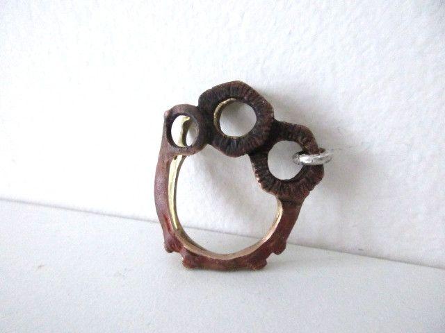 Anello multiplo in bronzo, ottone e argento di Loreart - Creare gioielli è un'arte su DaWanda.com