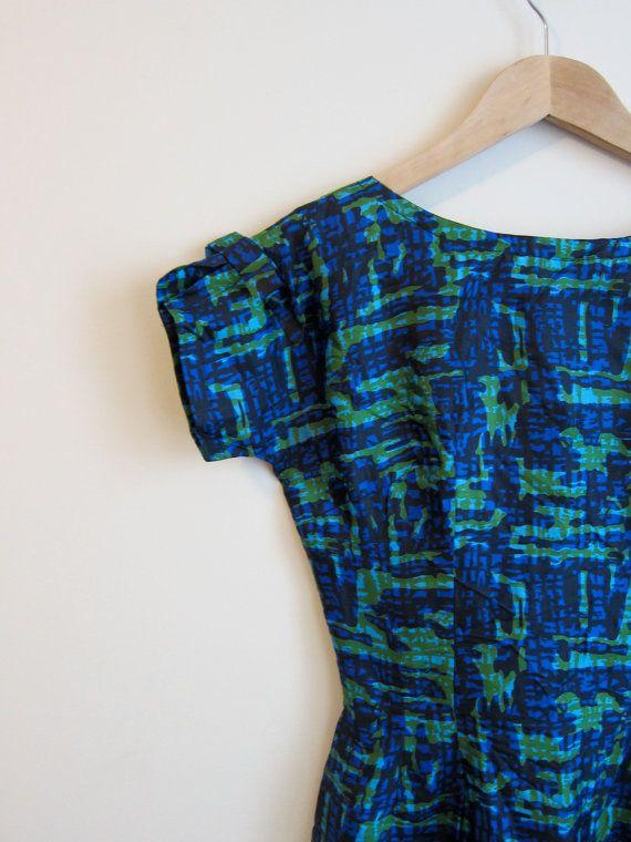 anni cinquanta acquerello Guaina abito di FreshHotVintage su Etsy, $100.00
