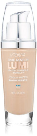 L'Oreal Paris True Match Lumi Healthy Luminous Makeup, Creamy Natural, 1.0 Ounces