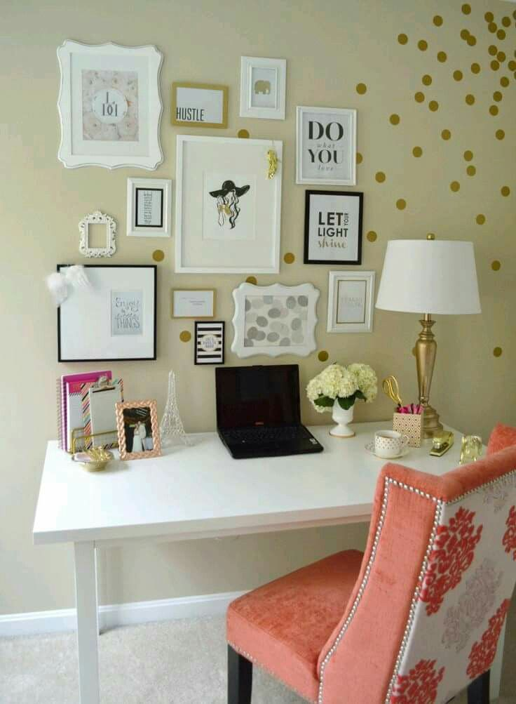 Lydia Lynnu0027s Polka Dotted And Cheerful Home Office {Office Tour}