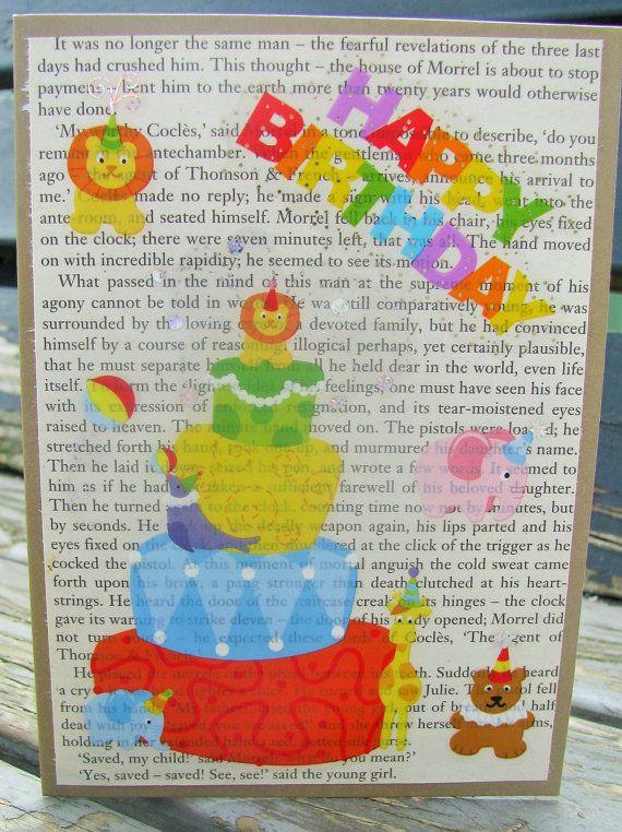 Birthday Animals  handmade card birthday card by RogueKissedCraft