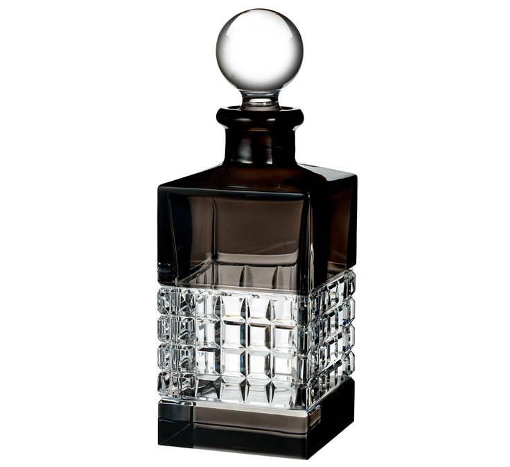Waterford Crystal, London Square Crystal Decanter, Smoke