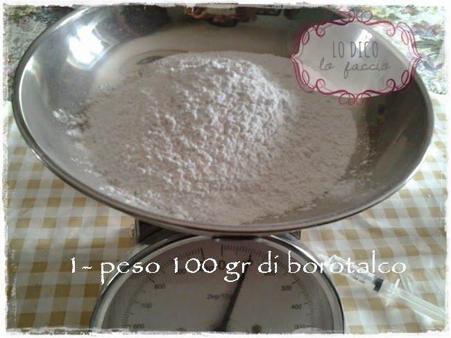 Lo Dico, lo Faccio : Pasta di borotalco per fare i gessetti: la ricetta [e cestino di fiori]
