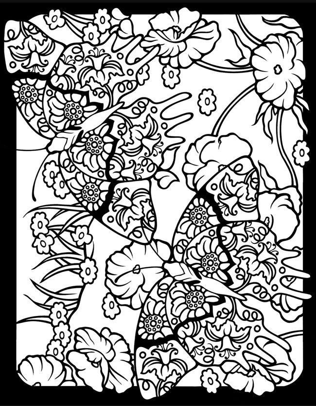 Fantasievolle Schmetterlinge Gebeizt Glas Malbuch 3720 32