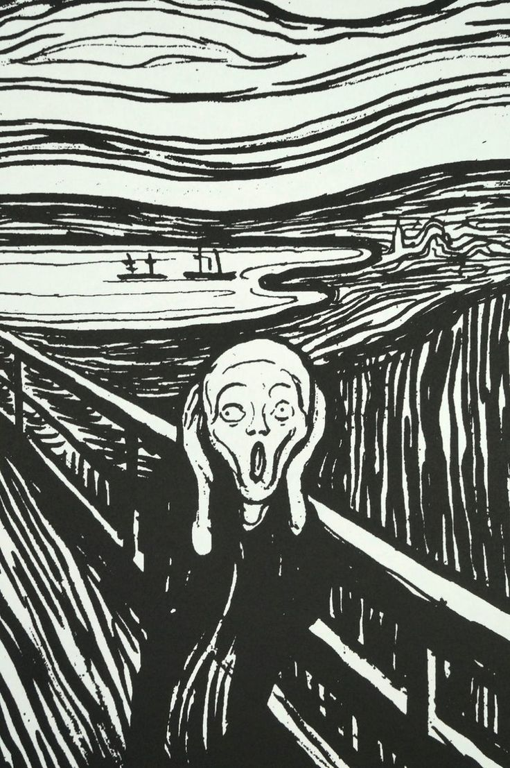 Vintage The Scream Edvard Munch Print Offset Lithograph