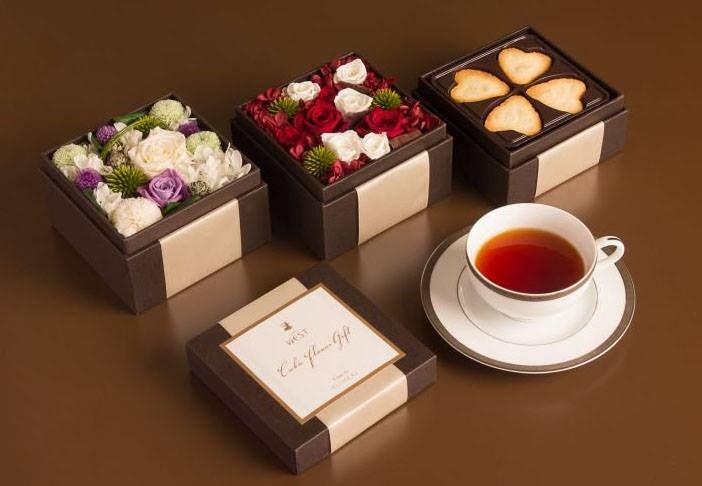 銀座ウエスト Cubic Flower Gift Box フラワーアレンジメント&ボックスパッケージデザイン