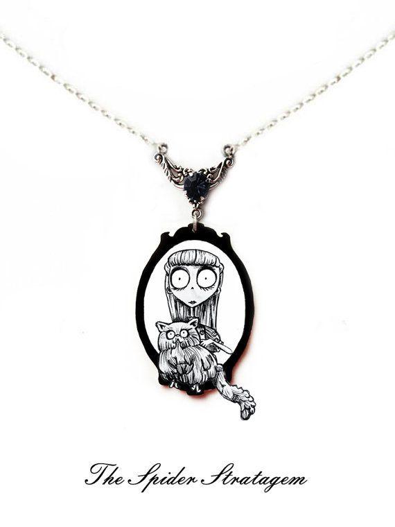 Gothic spooky earrings 'Weird Girl' Frankenweenie by SpiderStratagem on Etsy