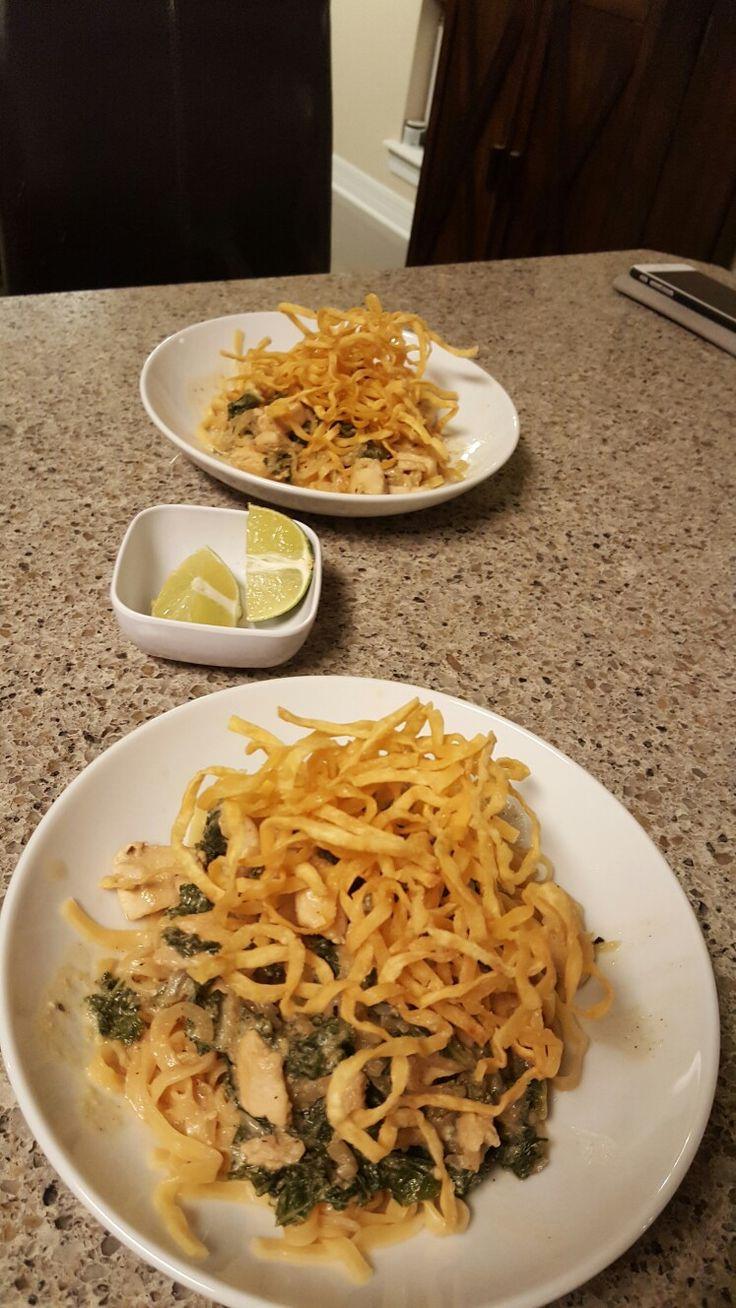 Blue apron wonton noodles - Chicken A Khao Soi With Crispy Wonton Noodles