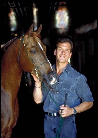Patrick Swayze with one of his award winning horses Phaeton   ...........click here to find out more     http://googydog.com