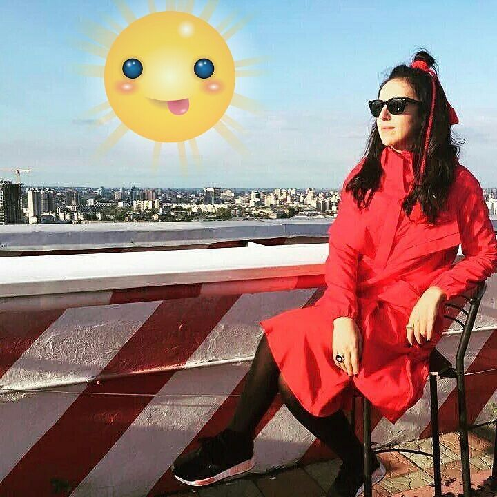 Jamala on the roof of her home waiting for inspiration #eurovision #2016 #europe #ComeTogether #Ukraine #music #ESC #stockholm #sweden #song #sun #Jamala