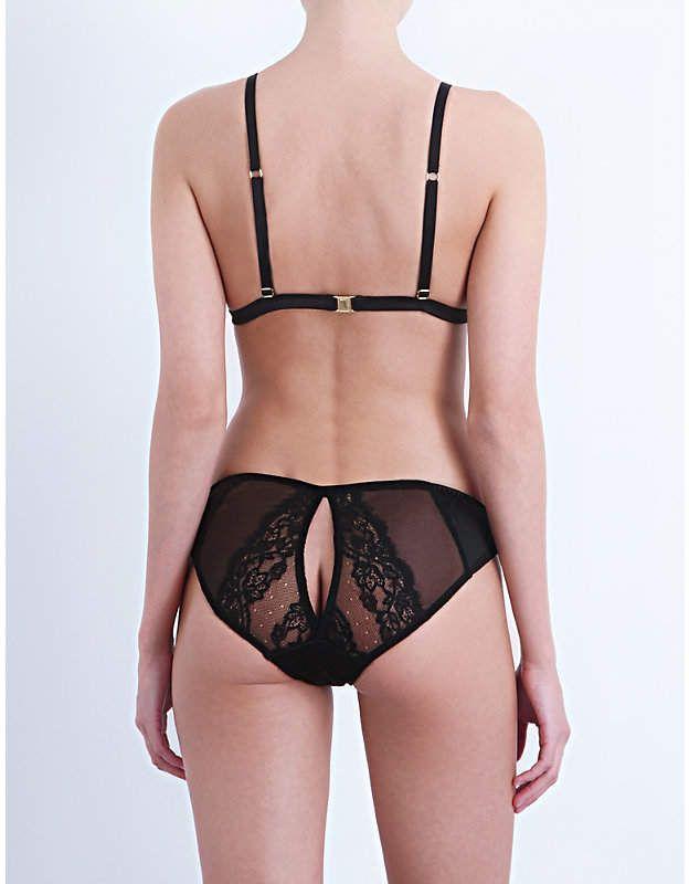 eb8acd5192c75 Coco De Mer Seraphine silk-satin and lace triangle bra #Mer#Seraphine#Coco