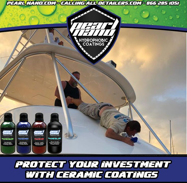Pearl Nano Certified Installers, Jayson Scott Fischer and Keith Pecot finish off the final touches and ceramic coated the entire yacht.  Pearl Nano Installer - Melbourne, FL, United States Pearl Nano Ceramic Coatings http://PearlNano.com #pearlnano