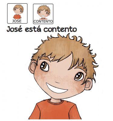 Cuentos para niños con pictogramas TEA ACNEAE EMOCIONES JOSE ESTA CONTENTO