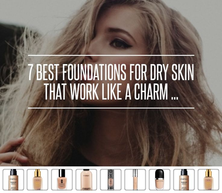 how to put on foundation with dry skin