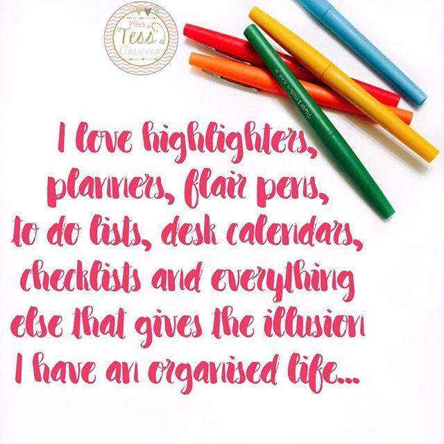 I am trying really hard over here!! 🙈 Remember pretty planner = instant organisation 💕 #ausb2s17    #Regram via @misstessclassroom