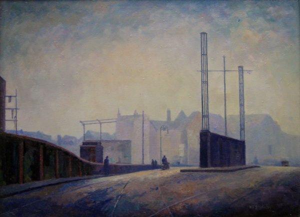 W J S, Bow Bridge, oil on canvas, 460 x 610