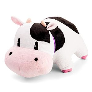 """Cow plush as featured in the Harvest Moon games. For fans of the Harvest Moon games from 1996 to today. Dimensions: 12"""" long and 7"""" tall. $24.99  HIGH WANT!!"""
