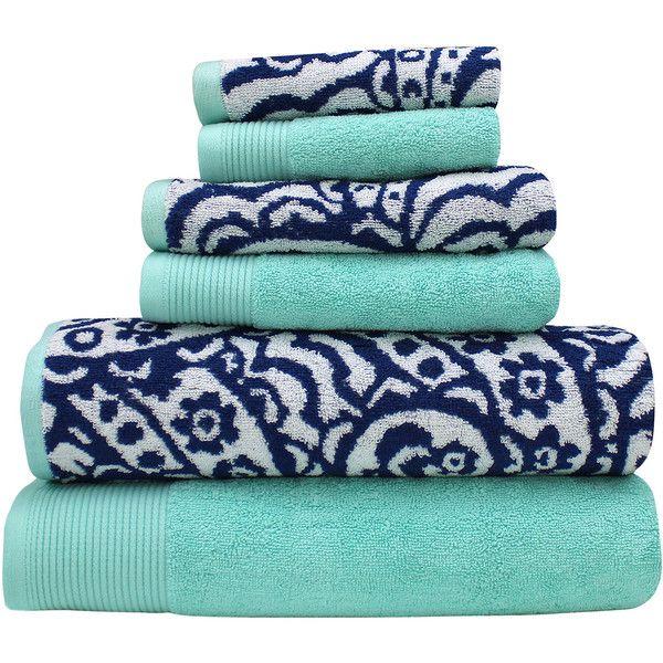 Pacific Coast Textiles Yarn Dyed Paisley 6 Pc Bath Towel