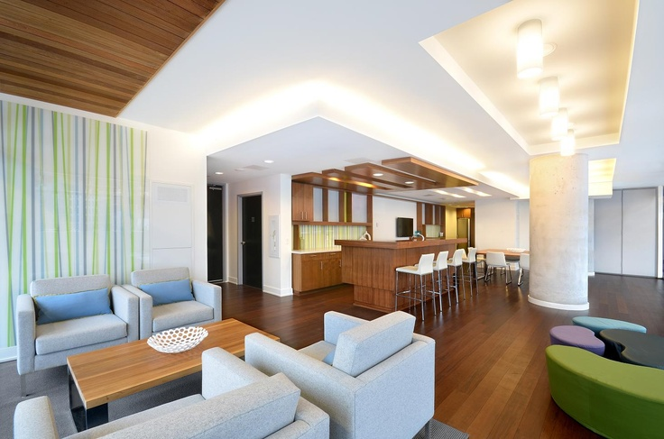 Party Room at Paintbox Condominiums.