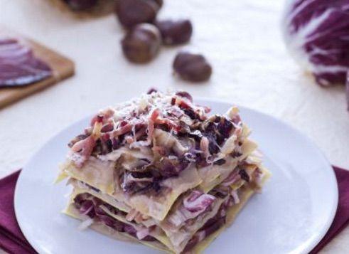 #Ricette vi presentiamo le Lasagne con speck, radicchio e crema di castagne! @gardaconcierge
