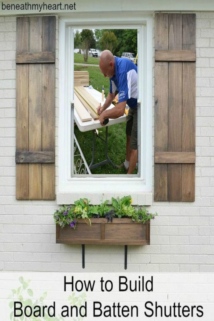 How to build your own board and batten shutters ~ these would be perfect outdoors and indoors
