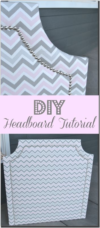 DIY Upholstered Headboard Tutorial, step-by-step instructions for this easy to make headboard. Use MDF, batting, and fabric to make this easy upholstered headboard