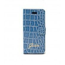 Forro Galaxy S4 - Guess - Ultra Slim Folio Croco Azul  Bs.F. 218,58