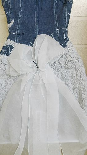 Denim and Lace Wedding Dresses | denim and lace...back is laney still in the fashion industry