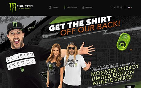 The site leverages the large Monster Energy fan base and the connection to their…