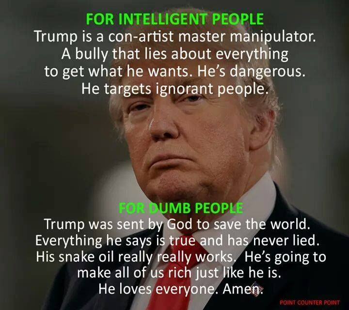 Image result for Moronic Trump supporters won't listen to facts