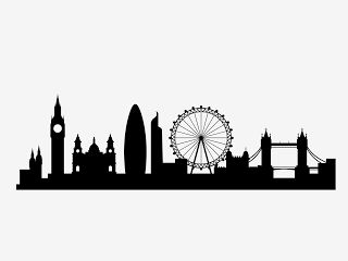 Free London City skyline svg   This is free city skyline featuring London of England. Get this fre...
