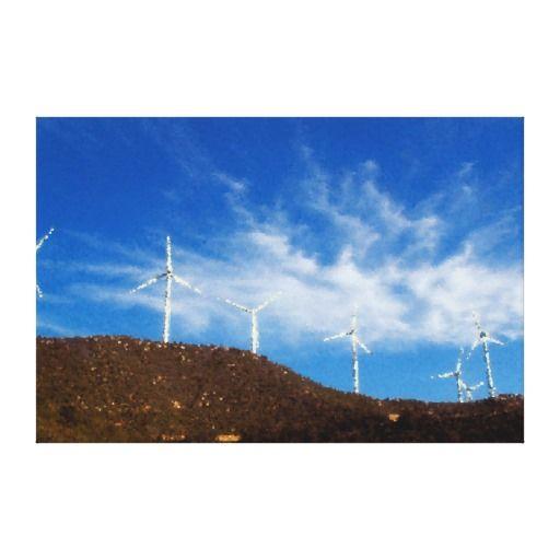 Windmills Canvas Prints