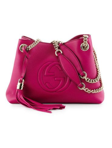 Gucci small Soho sectional tote bag in bright pink