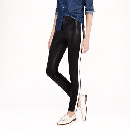Collection leather leggings in tuxedo stripe - AllProducts - nullsale - J.Crew