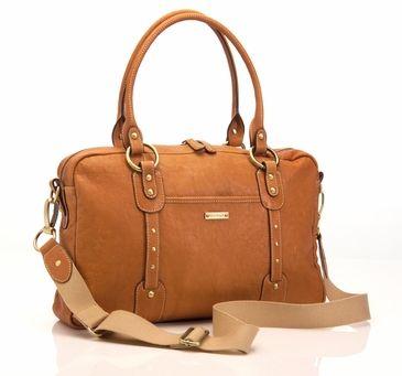 Storksak Elizabeth Leather Diaper Bag - Camel/Tan #storksaktandiaperbag
