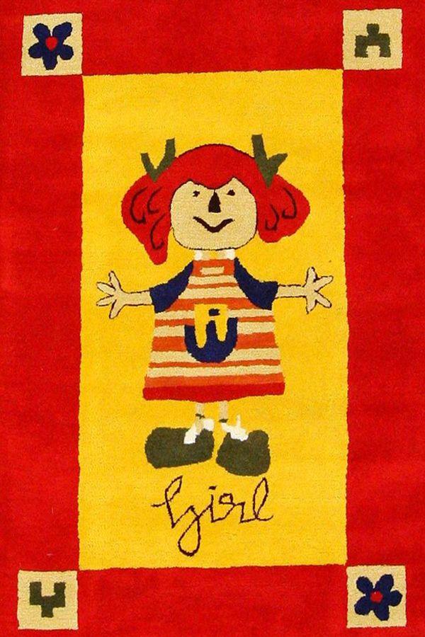 Incredibile Multicolore Bambini Tappeti KD-964120 X 180 CM ( 4'x6′ ) | Arts of India – Italy