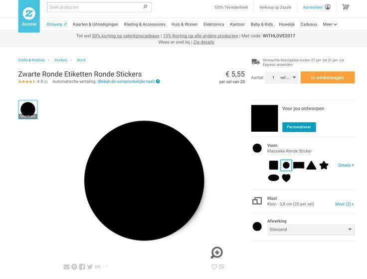 zwarte ronde etiketten
