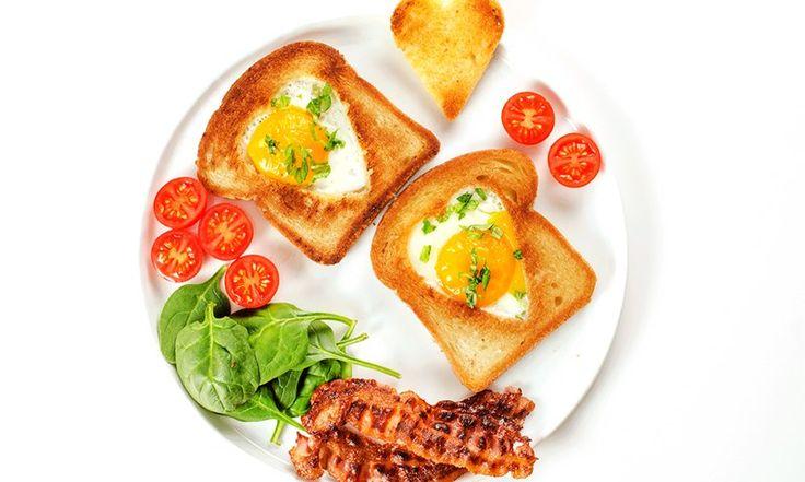 Toast med hjerteegg til Valentinsdagen | Frokost | EXTRA  -