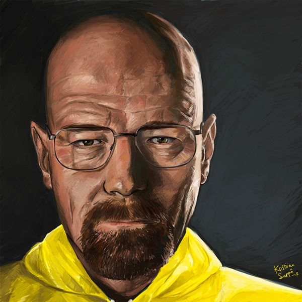 Walter White / painted in 2013 Breaking Bad © Vince Gilligan / AMC Actor Bryan Cranston