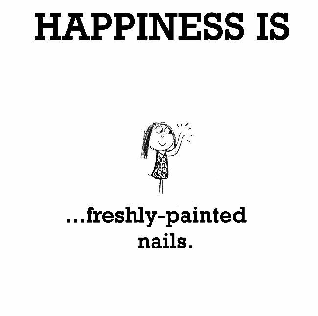 Painted nail,happiness