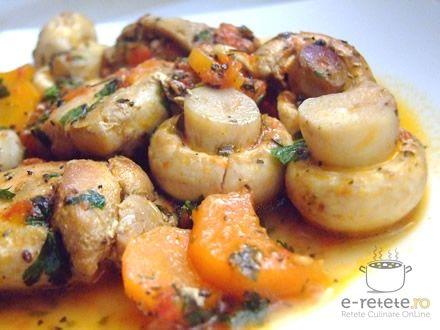 Pui cu ciupeci si ierburi Provence