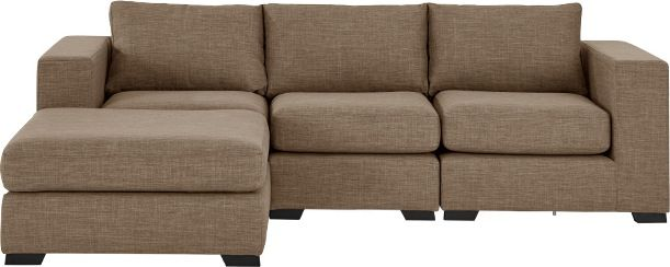 Mortimer 4 Seater Modular Corner Sofa, Caramel Beige from Made.com. Beige/Grey/Brown/Neutral. A generously proportioned sofa that fits around you - ..