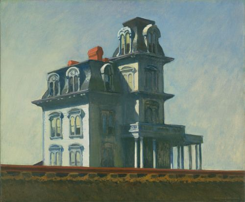 "Edward Hopper. House by the Railroad. 1925. Oil on canvas, 24 x 29"" (61 x 73.7 cm). The Museum of Modern Art, New York. Given anonymously. Digital Image © The Museum of Modern Art, New York, Digital Imaging Studio"