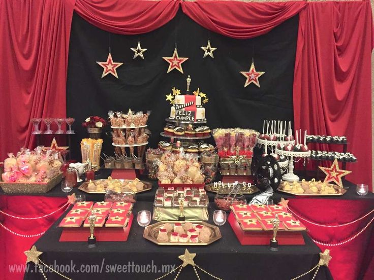 Hollywood - Oscar Party  Birthday Party Ideas   Photo 1 of 18