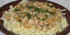 Makaron z kurczakiem i serkiem mascarpone