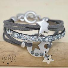 Bracelet DIANE étoile gris