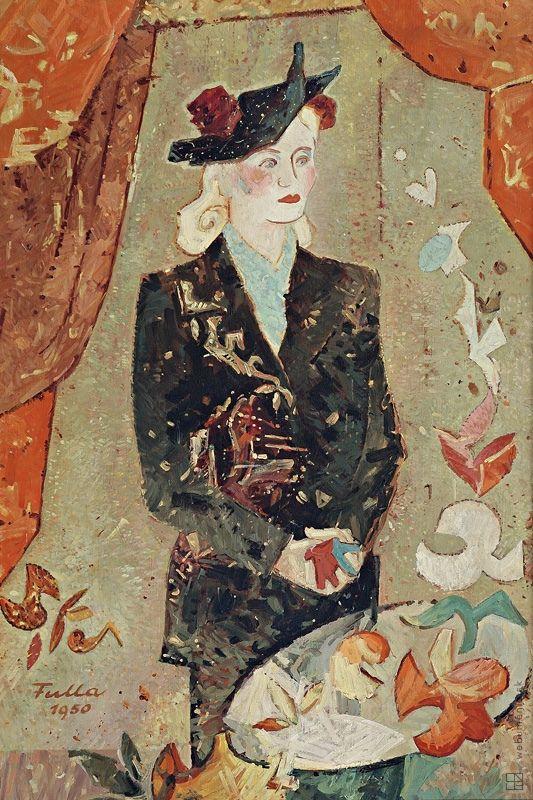 Ľudovít Fulla: Portrét umelcovej manželky:1950