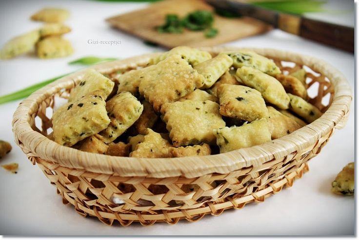 Gizi-receptjei. Várok mindenkit.: Medvehagymás keksz.