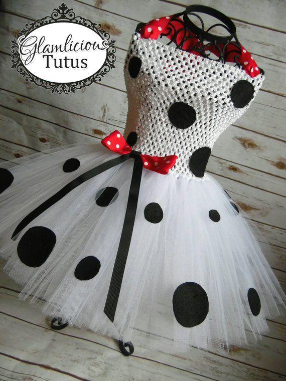 Tutu de dálmata dress Disfraz de dálmata por GlamliciousTutus